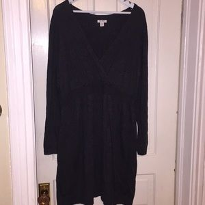 Gray long sleeve sweater dress old navy xxl